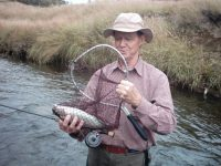 Fly fishing trips, Bill Brogden  fishing in the  New Zealand