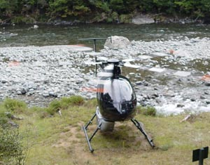 A quick trip into the backcountry via helicopter