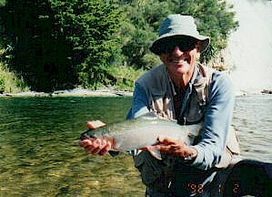 Walter with a nice Rangitikei Rainbow