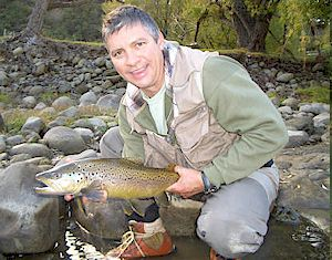 Hal with a nice Hawkes Bay Brown Trout